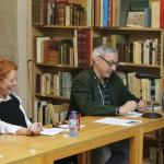 Xosé Monteagudo presenta A lúa da colleita na libraría Couceiro de Santiago de Compostela. 12 de marzo de 2014. Foto Helena Torres
